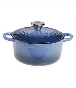Olla de hierro fundido esmaltado Our Table™color azul mezclilla, 1.89 L