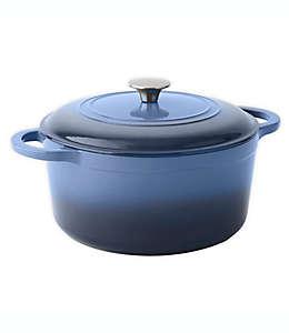 Olla de hierro fundido esmaltado Our Table™color azul mezclilla, 5.67 L