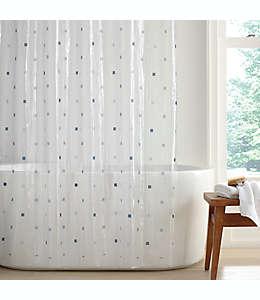 Cortina de baño de PEVA Simply Essential™ Square Dot