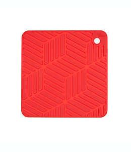 Salvamanteles de silicón Our Table™ color rojo