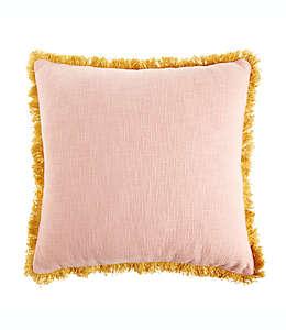 Cojín de algodón Wild Sage™ Jacqueline color rosa/oro