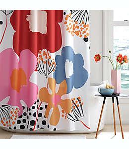 Cortina de baño de poliéster Simply Essential™ Engineered Floral