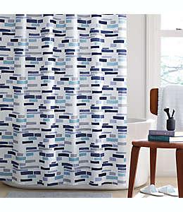Cortina de baño de poliéster Simply Essential™ Broken Stripe