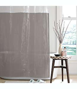 Cortina de baño de PEVA Simply Essential™ Colorblock color gris