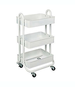 Carrito organizador de metal Squared Away™ color blanco
