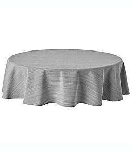 Mantel redondo de algodón Our Table™ de 1.77 m color gris