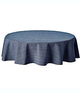 Mantel redondo de algodón Our Table™ de 1.77 m color azul marino