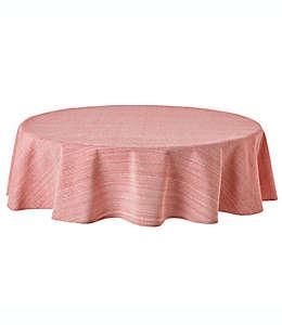Mantel redondo de algodón Our Table™ de 1.77 m color rojo