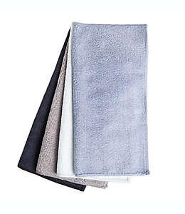 Paños de microfibra Simply Essential™ color negro/azul, Paquete de 4