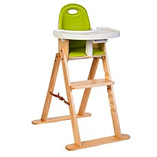 image of svan high chair in naturallime