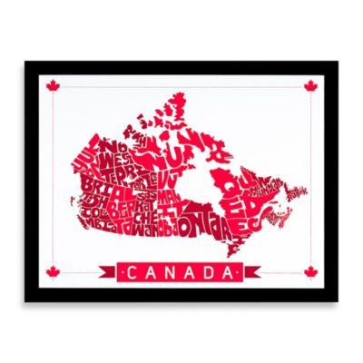 Canada Map Framed Wall Art Bed Bath Beyond