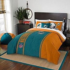 image of NFL Miami Dolphins Embroidered Comforter Set