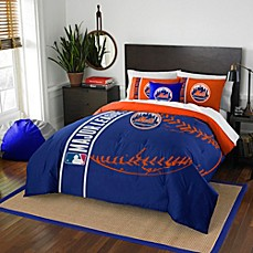 image of MLB New York Mets Embroidered Comforter Set