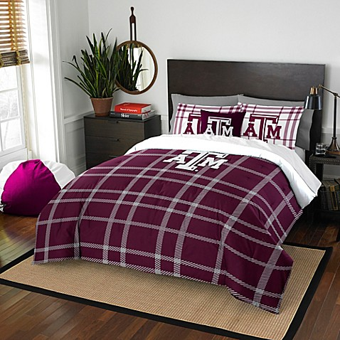 Texas A Amp M University Embroidered Comforter Set Bed Bath
