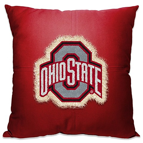Ohio State University 18 Inch Letterman Throw Pillow Bed