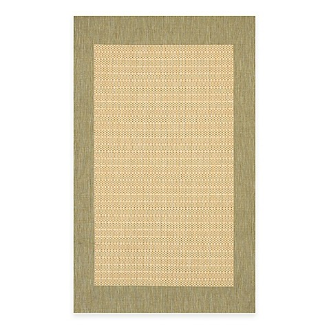 Couristan 174 Checkered Field Rug In Natural Green Bed Bath