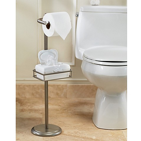 image of spa creations toilet paper stand with wet wipe adjustable shelf
