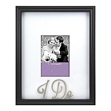image of Occasions I Do 5-Inch x 7-Inch Picture Frame in Black