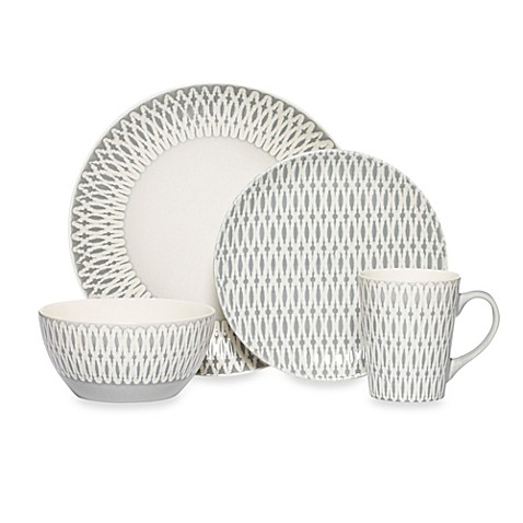 Gourmet Basics by Mikasau0026reg; Aurora 16-Piece Dinnerware Set  sc 1 st  Bed Bath u0026 Beyond & Gourmet Basics by Mikasa® Aurora 16-Piece Dinnerware Set - Bed Bath ...