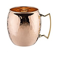image of Old Dutch International 16 oz. Moscow Mule Mug with Hammered Finish in Solid Copper