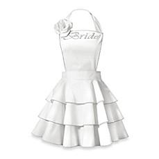 White Kitchen Apron kitchen aprons for hostess, bride & groom - bed bath & beyond