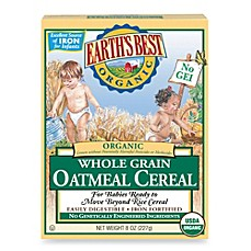 image of Earth's Best® Organic 8 oz. Whole Grain Oatmeal Cereal