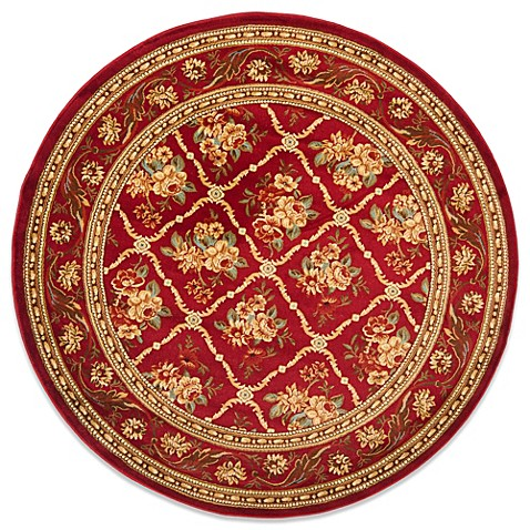Safavieh Lyndhurst Collection Courtland 5-Foot 3-Inch Round Rug in Red
