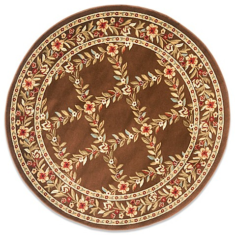 Safavieh Lyndhurst Collection Feodore 5-Foot 3-Inch Round Rug in Brown