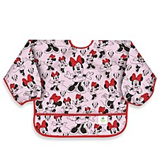 image of Disney Baby Minnie Mouse Classic Waterproof Long Sleeved Bib from Bumkins®