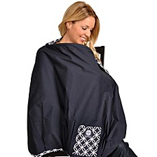 image of Balboa Baby® Nursing Cover in Navy/White