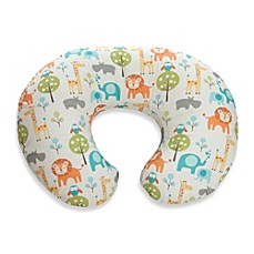 image of Boppy® Infant Feeding/Support Pillow with Peaceful Jungle Slipcover