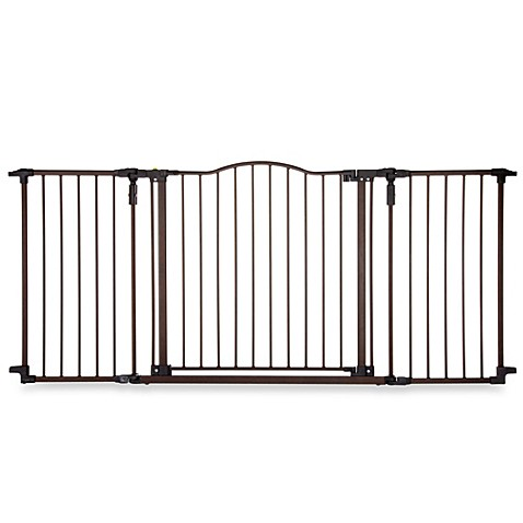 North States Deluxe Decor Gate In Matte Bronze Buybuy Baby