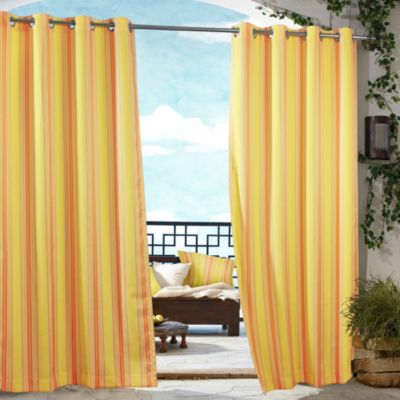 Commonwealth Home Fashions Gazebo Striped Outdoor Curtain Bed