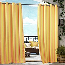 image of Fashions Gazebo Striped Outdoor Curtain