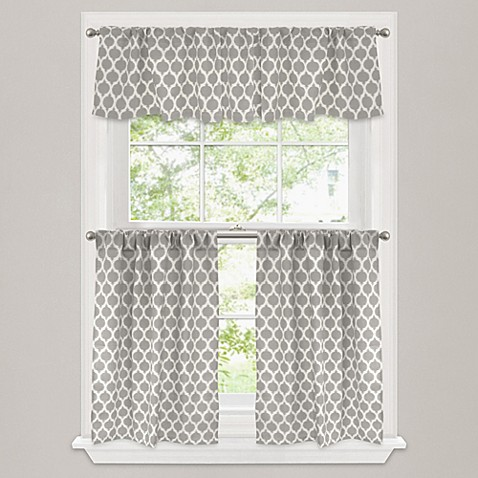 Buy Morocco 36 Inch Window Curtain Tier Pair In Stone From Bed Bath Beyond