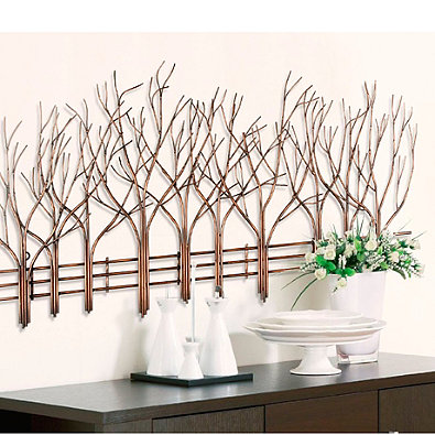 Wall decor printed canvas peel steel wall decals for Deco metal mural