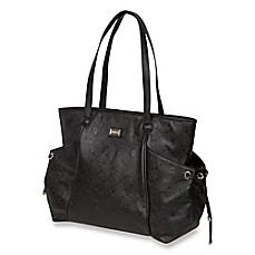 image of The Bumble Collection™ Embossed Tote Diaper Bag in Black