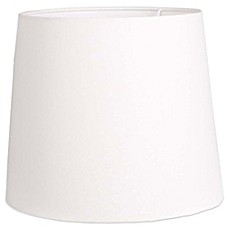 image of mix u0026 match large 15inch hardback linen drum lamp shade in white