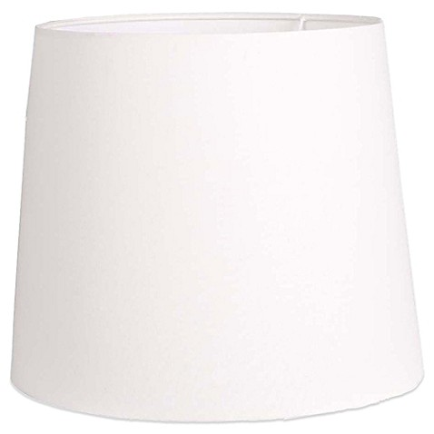 Mix U0026 Match Large 15 Inch Hardback Linen Drum Lamp Shade In White