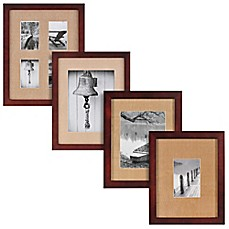 image of real simple espresso wood wall frame with khaki mat