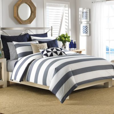 Nautica Lawndale Reversible Comforter Set in Navy Bed Bath Beyond