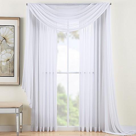 reverie sheer window scarf valance bed bath beyond