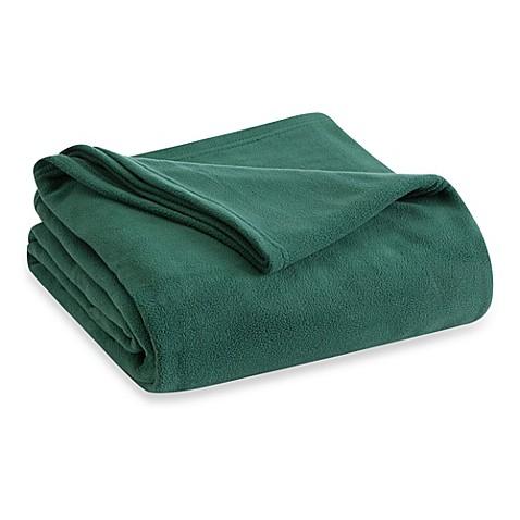 Buy vellux fleece full queen blanket in hunter green from for Vellux blanket