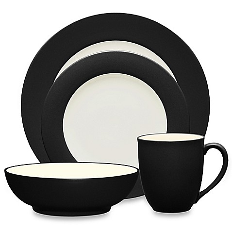 Noritake® Colorwave Rim Dinnerware Collection in Graphite - Bed Bath ...