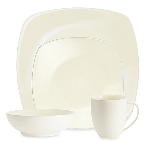 Noritake® Colorwave 4-Piece Square Place Setting in White