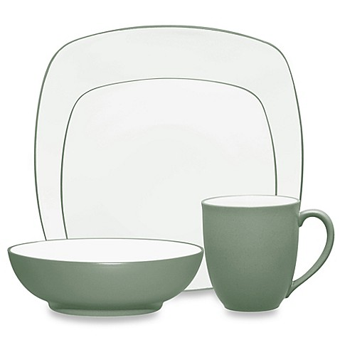 Noritake® Colorwave Square 4-Piece Place Setting in Green