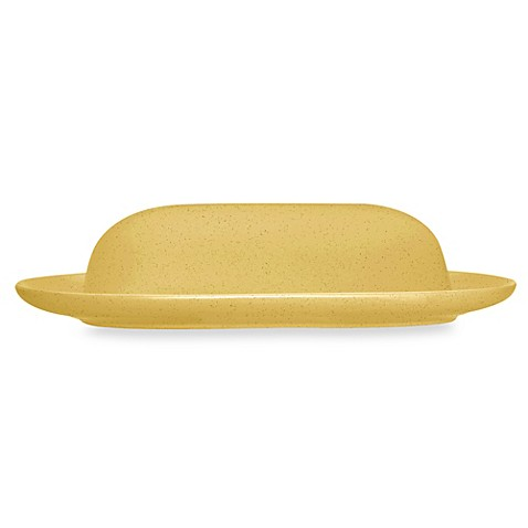 Noritake® Colorwave Covered Butter Dish in Mustard