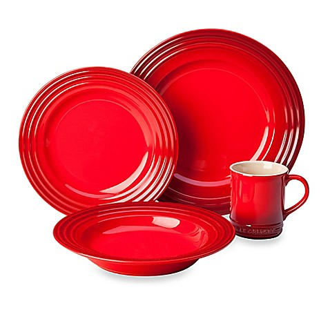 Le Creuset® 4-Piece Place Setting in Cherry