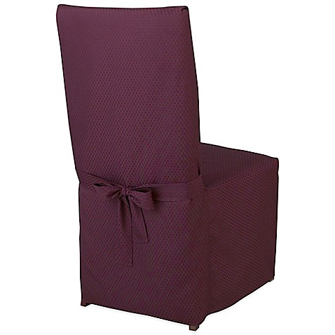McKenna Microfiber Dining Room Chair Cover In Amethyst