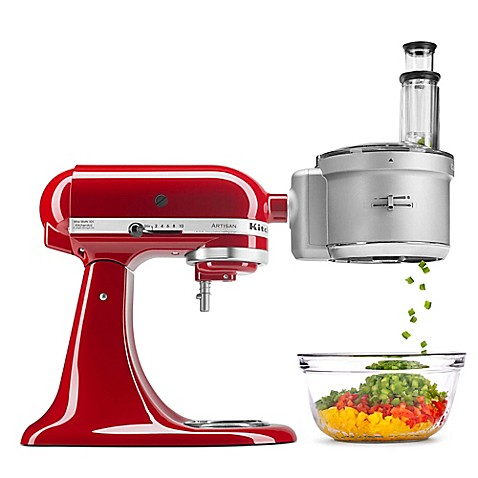 KitchenAidu0026reg; Food Processor With Commercial Style Dicing Kit Stand Mixer  Attachment